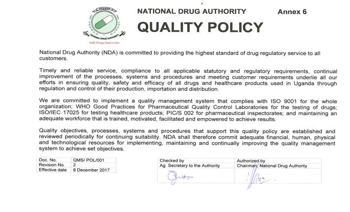 NDA-policy