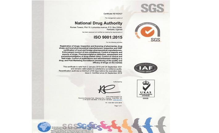 ISO certificateNDA